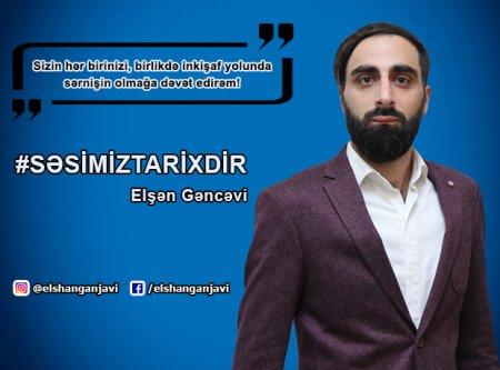 ELŞƏN GƏNCƏVİ SEÇİCİLƏRƏ MÜRACİƏT ETDİ