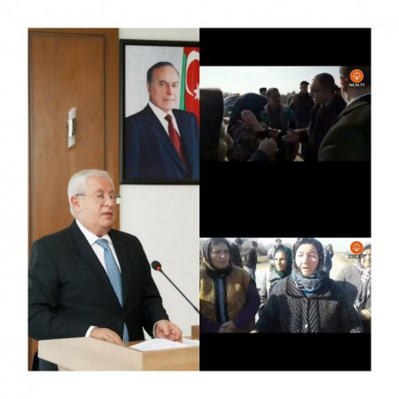 Neftçala rayonunun 2 kəndi ayağa qalxdı-Video