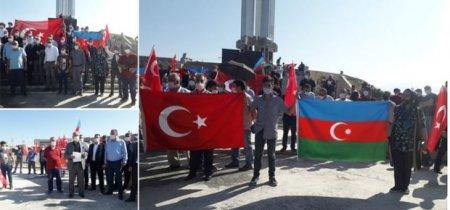 İğdırda Azərbaycana dəstək aksiyası təşkil edildi
