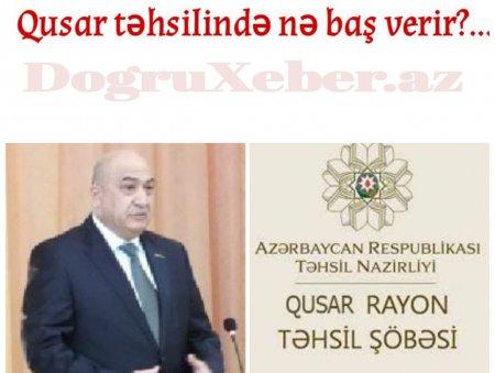 Qusar təhsilinin iç üzü: Şagirdlər önündə ədəbsizlik nümunəsi // FOTO