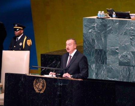 Prezident İlham Əliyev BMT Baş Assambleyasının 76-cı sessiyası çərçivəsində çıxış edib